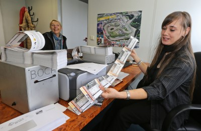Ticket-Vorverkauf für Motorrad Grand Prix 2013