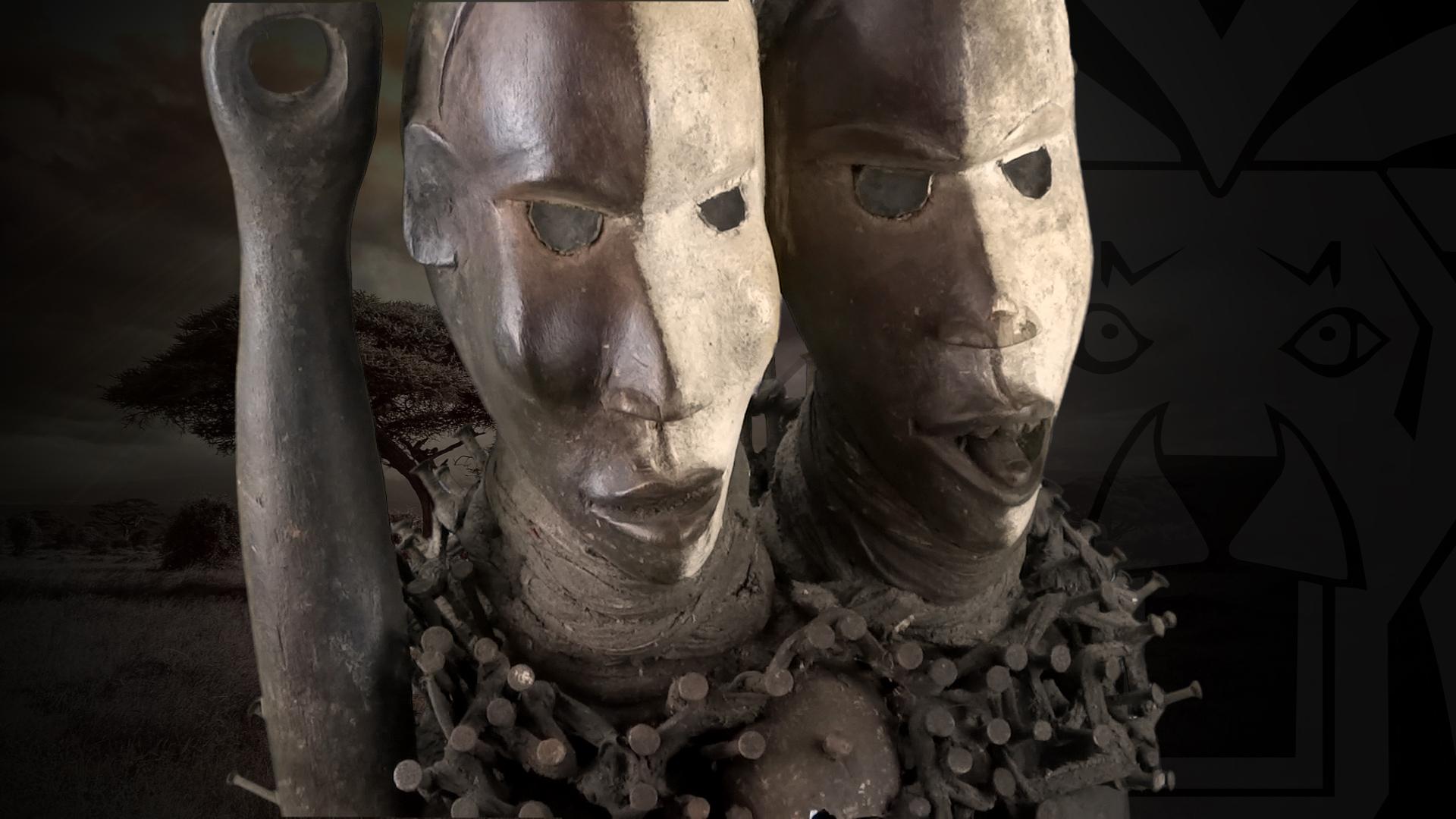 doppelkopf schutzfigur der bakongo dr kongo congo afrika. Black Bedroom Furniture Sets. Home Design Ideas
